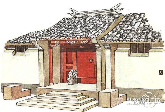 —现代住宅设计的人文细节   中国北方院落民居以北京四合院最为典型.
