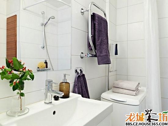 白色复古小户型 70平家居装修效果图