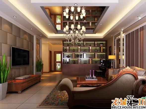 西式客厅茶镜吊顶