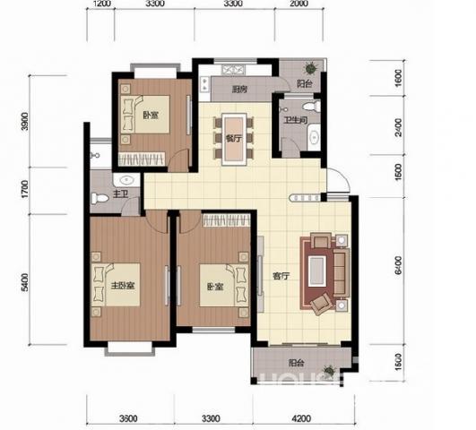 2号线地铁口 安居苑 正规三室 50中学区 楼层绝佳 房主急卖