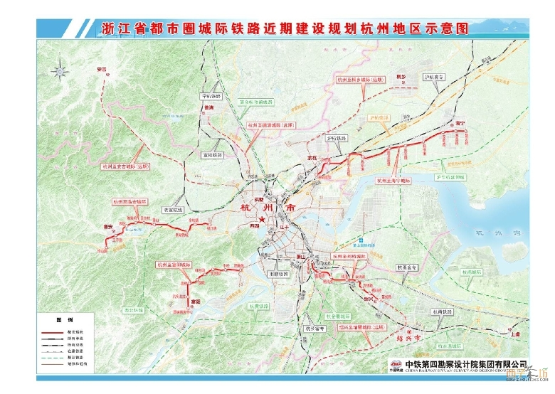 昨天,省发改委官网(www.zjdpc.gov.cn)发布了《浙江省都市圈城际铁路近期建设规划环境影响报告书》,对杭州、宁波、金华、台州四大都市圈城际轨道的建设做了说明。 《报告书》提到,将于近期新建11条城际轨道线,分别是—— 杭州都市圈:4条,分别为杭州至海宁、杭州至临安、杭州至富阳、杭州至绍兴。 宁波都市圈:3条,分别为宁波至余姚、宁波至慈溪、宁波至奉化。 台州都市圈:2条,分别为临海至石塘S2线(近期建设新前站至白云山站),头门港至台州至温岭S1线(近期建设白云山站至体育