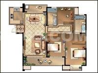 国3号Q户型 3室2厅2卫 142平