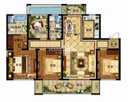 津西新天地D1户型3+1室两厅两卫 140平