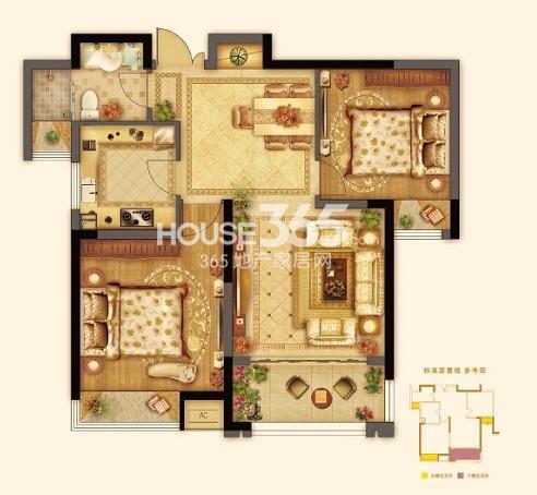 七里香都A3两室两厅一卫约86平
