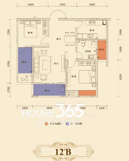 瑞泰心里城12#楼B户型