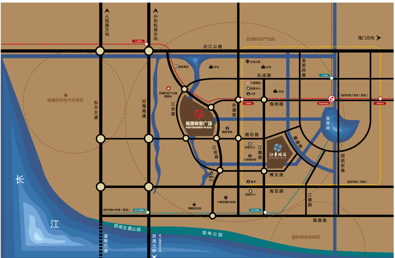 江景瑞园交通图