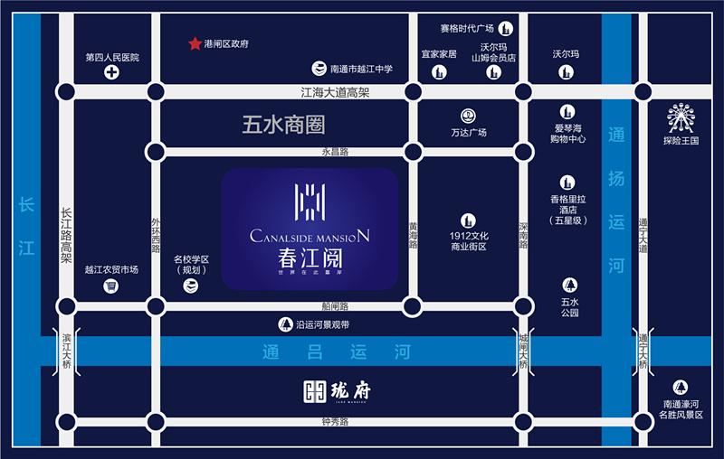 春江阅交通图