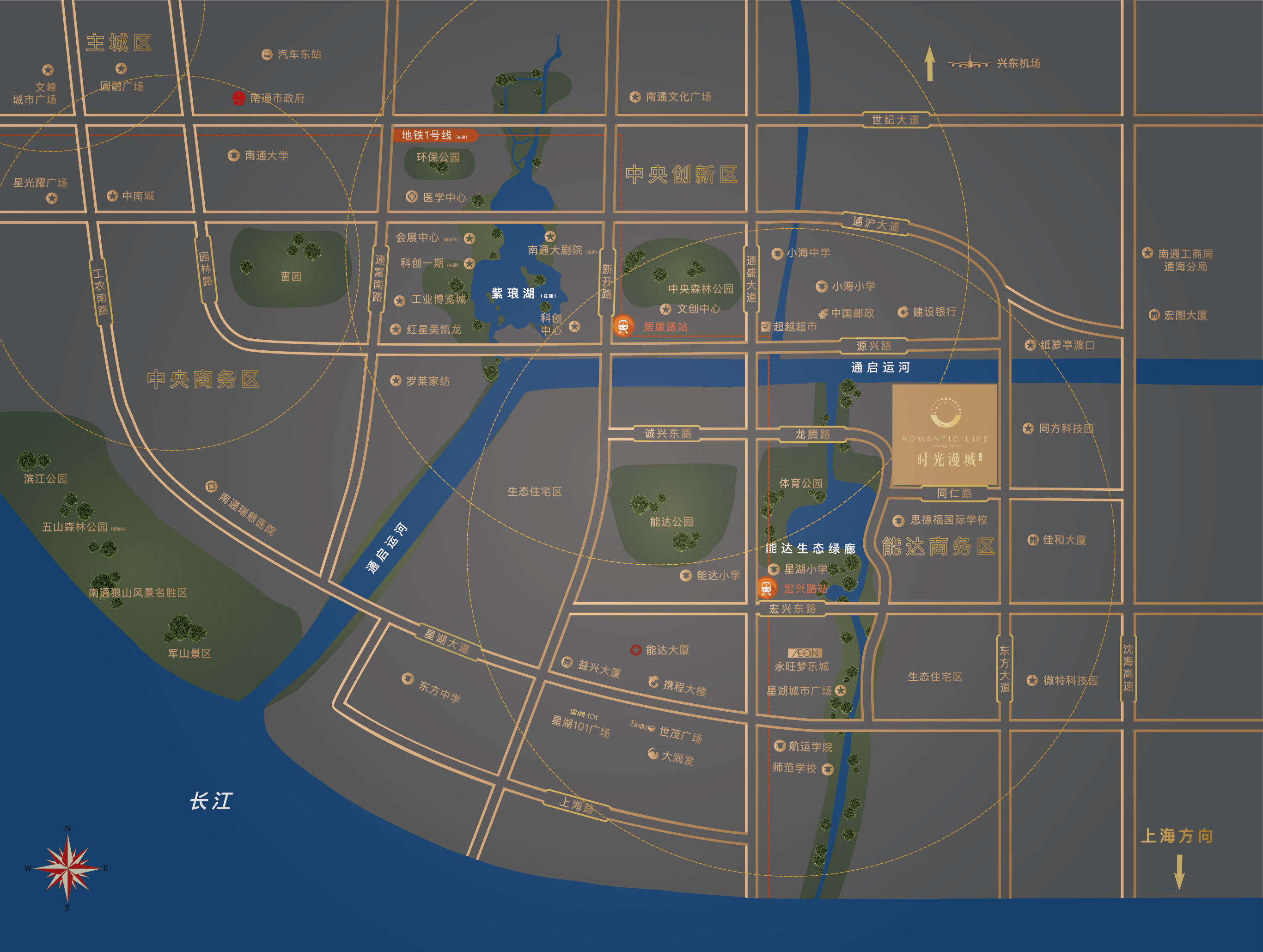 时光漫城交通图