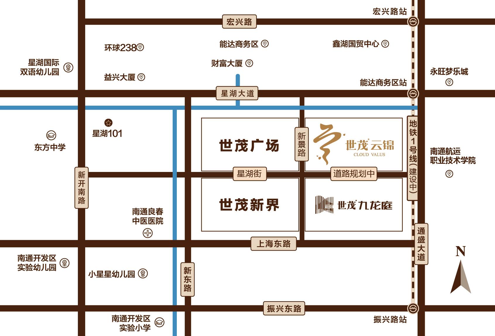 世茂云锦交通图