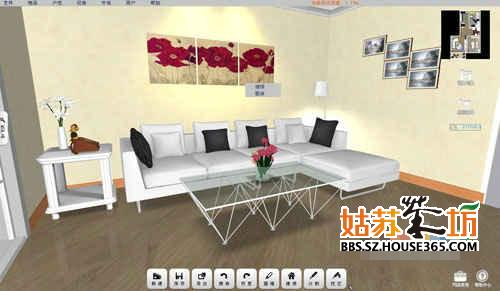 小型客厅装修效果图_家装大家谈_姑苏茶坊