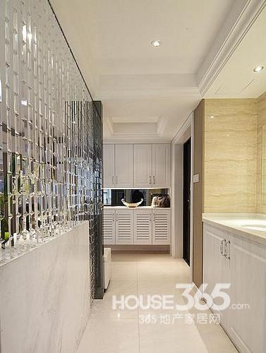 简欧风格装修图片:玄关入口的洗手台