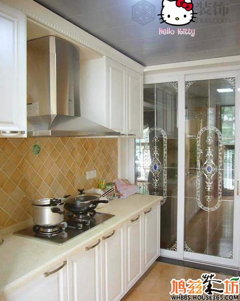 厨房玻璃隔断效果图带花纹图片