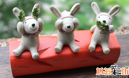 仰望天空可爱小摆件  一整套可爱玩偶树脂摆件,款式多样,造型可爱生动