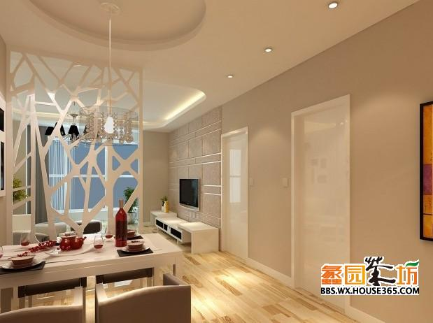 > 90平客厅装修效果图 现代风格餐厅装修