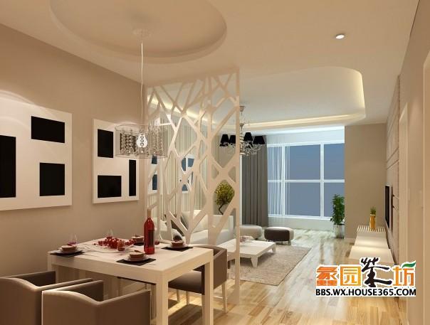 90平客厅装修效果图 现代风格餐厅装修
