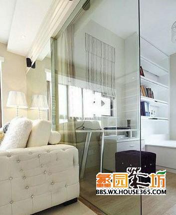 客厅玻璃隔断效果图 8式通透明亮